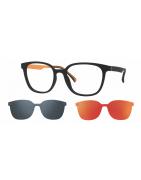 dioptrické brýle se slunečním polarizačním klipem